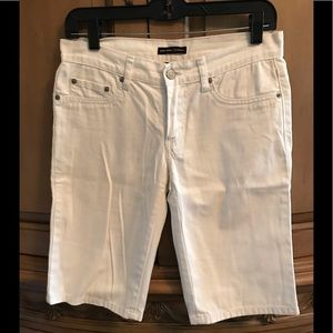 New York & Co white jean shorts gently worn size 2